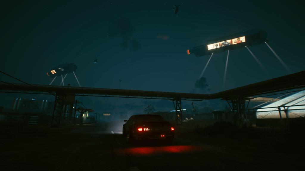 Cyberpunk 2077 transports