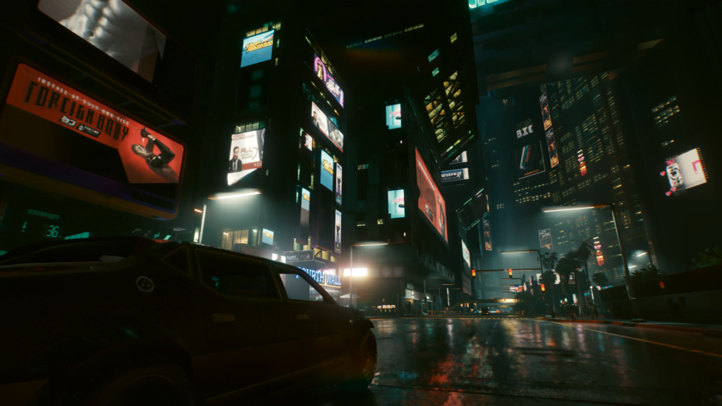 Cyberpunk 2077 downtown