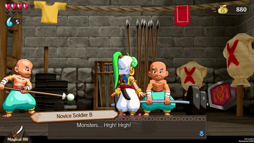 Wonder boy aha in monster world