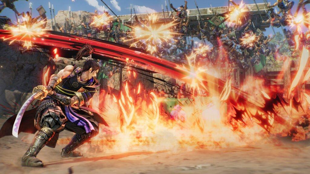 Samurai Warriors 5 fire